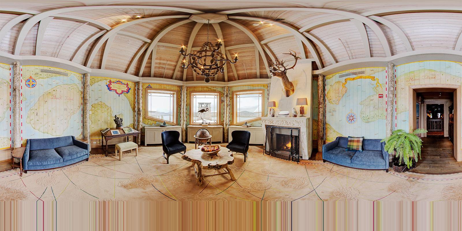 Lake Placid Lodge Map Room