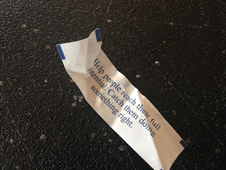 """Image of """"fortune"""" from cookie."""