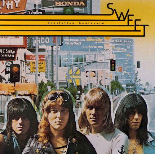 "Album cover, The Sweet, ""Desolation Boulevard"""