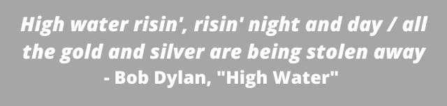 Graphic of Bob Dylan song lyrics,