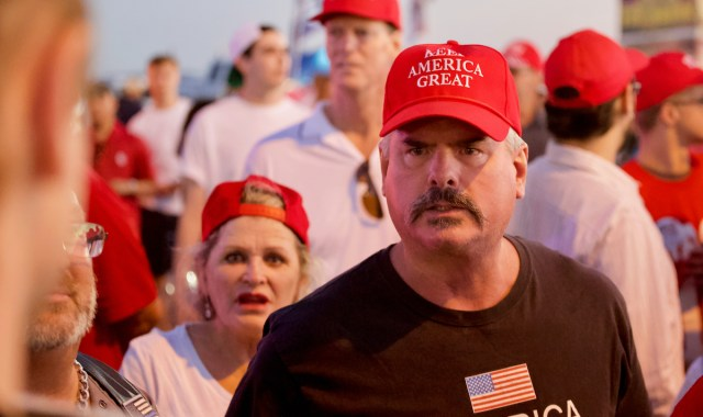 Photo of Trump supporters