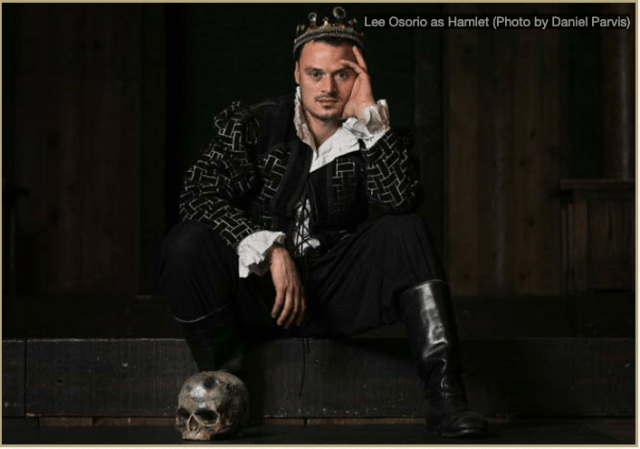 Hamlet played by Lee Osorio by Daniel Parvis