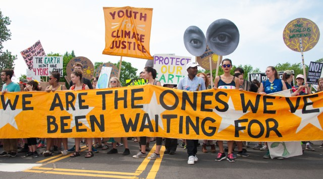 Image of youth climate protest