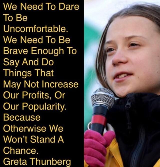 Greta Thunberg Instagram post