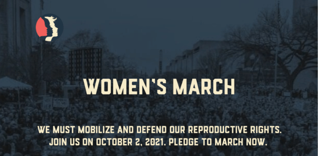 Women's reproductive rights march graphic