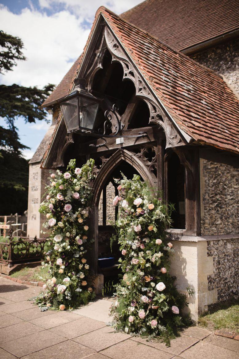Henley church flower columns