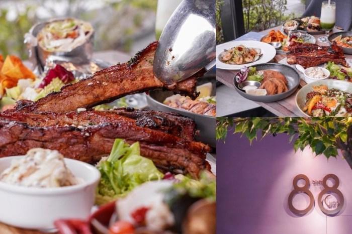 Bistro88 light崇德店 |台中北屯人氣早午餐,BBQ烤豬肋排霸氣端上桌,再搭穀物飯超銷魂又健康!