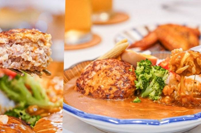 捲捲咖哩 |藏身在台中南屯的小清新咖喱飯,每日限量漢堡排咖喱飯饕客必點!咖哩雞翅、柚香蘿蔔涮嘴過癮~