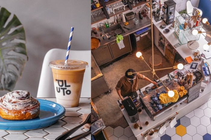 Pluto Espressoria  台中南屯IKEA附近英倫風不限時咖啡廳,六角形裝潢+奶油肉桂捲太時尚了!