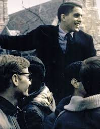 Gary Walters and his classmates celebrate Princeton's Final Four bid in 1965.(paw.princeton.edu)