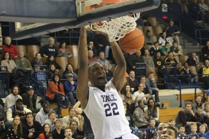 Justin Sears notched 27 points and nine rebounds in Yale