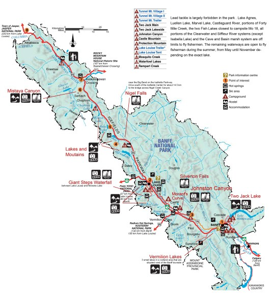 map-of-banff-national-park