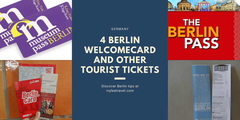 4 Berlin WelcomeCard and other tourist tickets