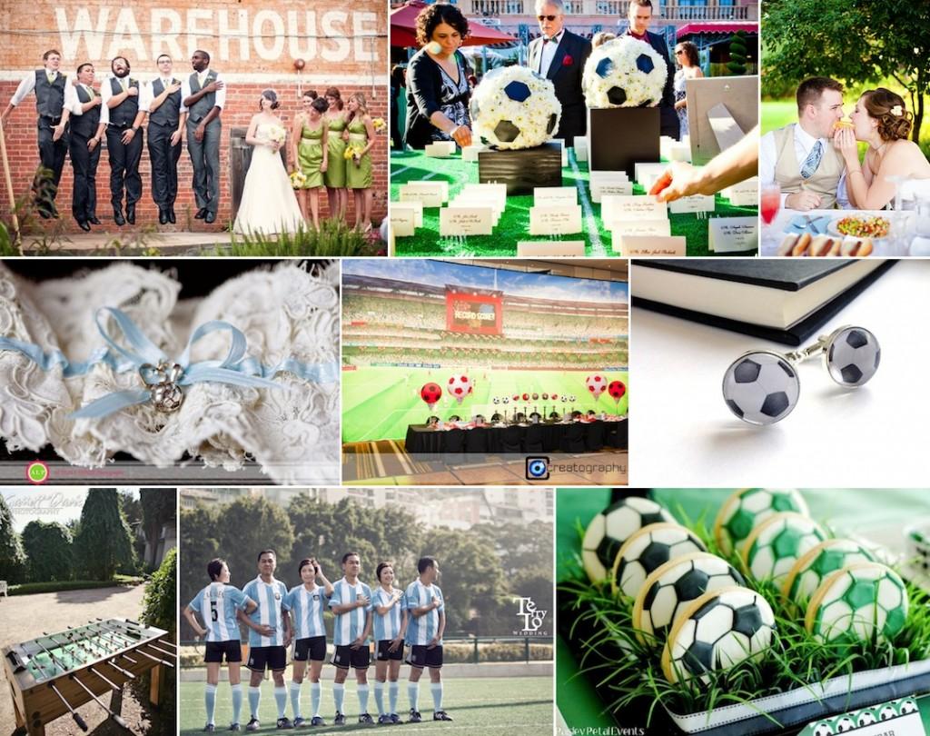 A Unique Football Themed Wedding