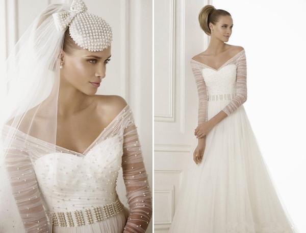 Top 5 Vintage Long Sleeves Wedding Dresses For Brides In