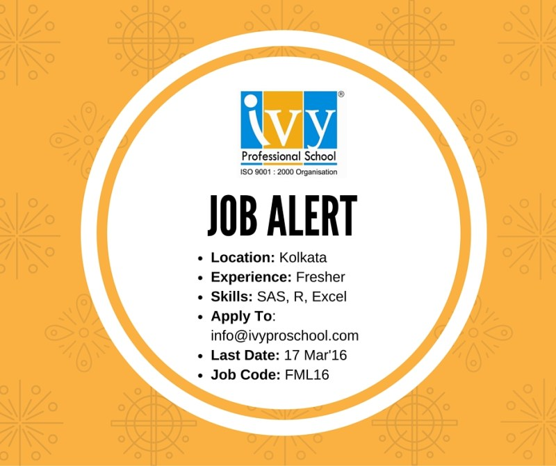 Job Alert - Fresher - Kolkata