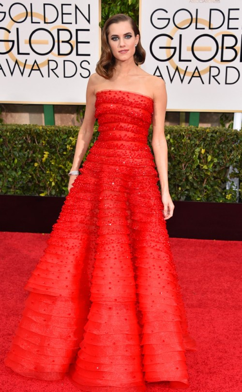 Alison Williams Golden Globes 2015