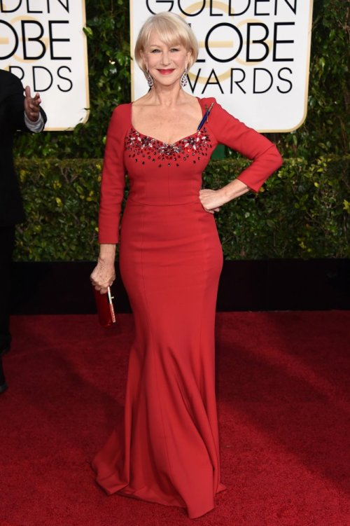 helen mirren Golden Globes 2015