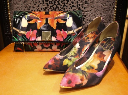 Ted Baker clutch and heels ivy says choice