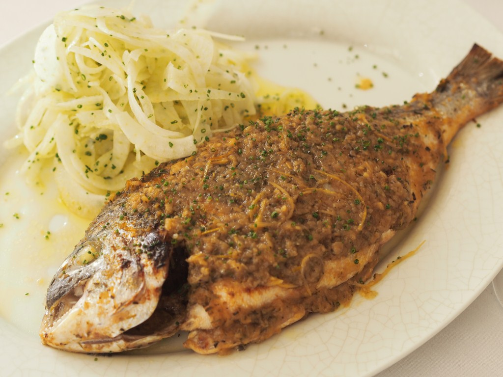 La Petite Maison Beirut Review sea bream fish