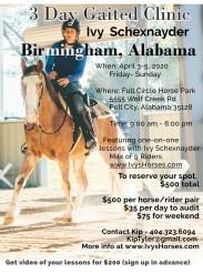 2020 Alabama horse clinic alternate