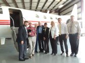 Guests were encouraged to tour the Sabreliner after the ceremony.