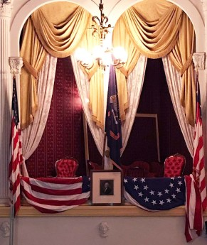 Where President Lincoln was sitting when he was shot April 14, 1865, 152 years ago.
