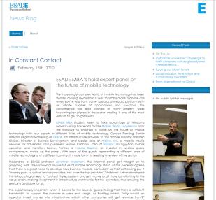 Desarrollo Web Blog ESADE Comunicacion