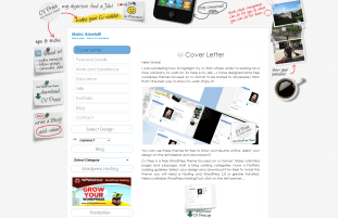 Plantilla Web WordPress Gratis Curriculum