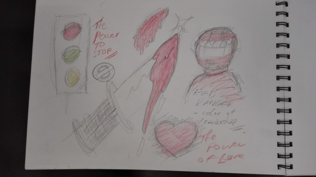 Sketches representing the red