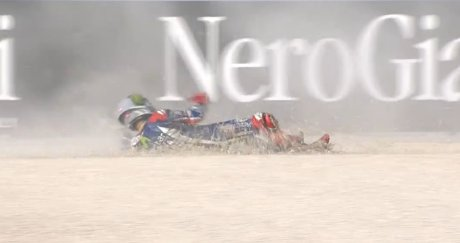 Lorenzo crash aragon