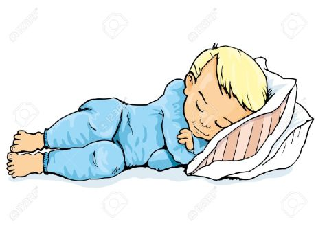 9334800-cartoon-of-little-boy-sleeping-on-a-pillow-isolated-on-white-stock-vector