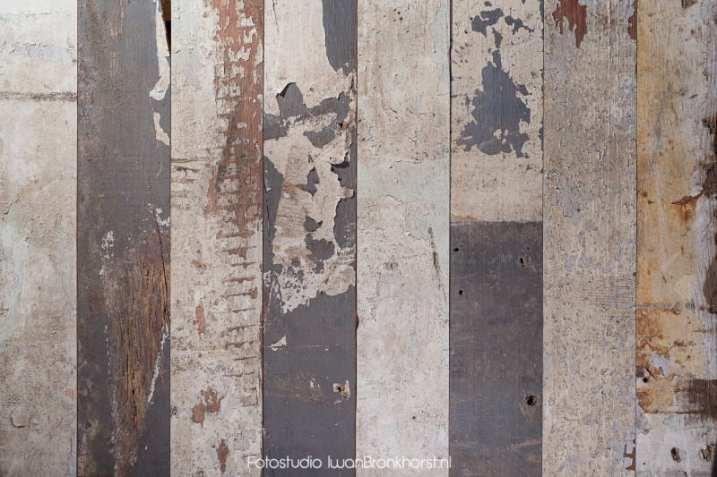 Oude houtstrips