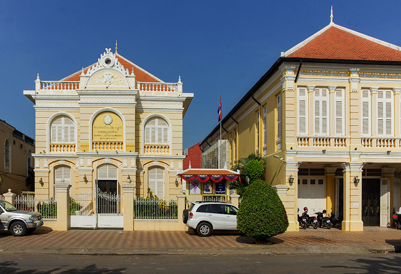 riverside architecture in battambang