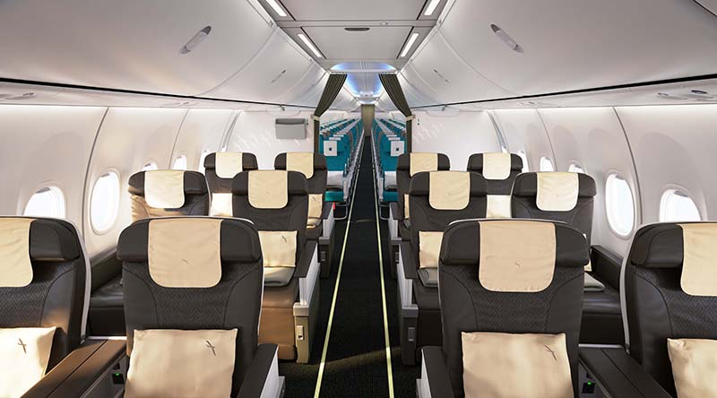 business class cabin on silkair's new 737 max 8