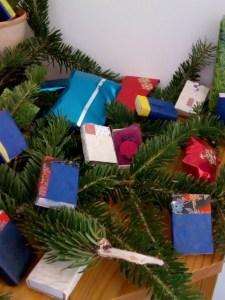 advent calendar με σπιρτόκουτα