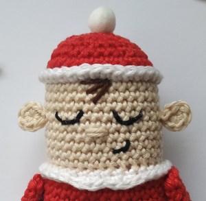 Baby Santa's face