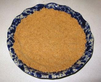 Cookie Crumb Crust in Pie Plate
