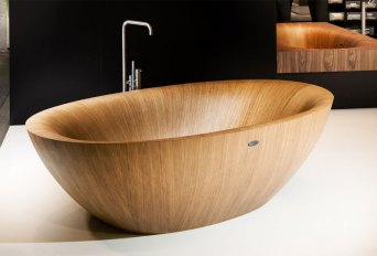 Elegant Bathtubs Made Entirely of Wood 08