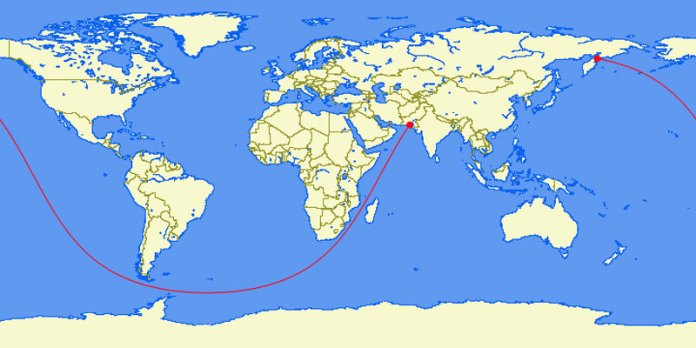 The Longest Straight Line You Can Sail on Earth