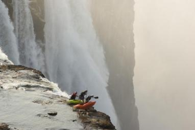 Extreme kayaking at Victoria Falls
