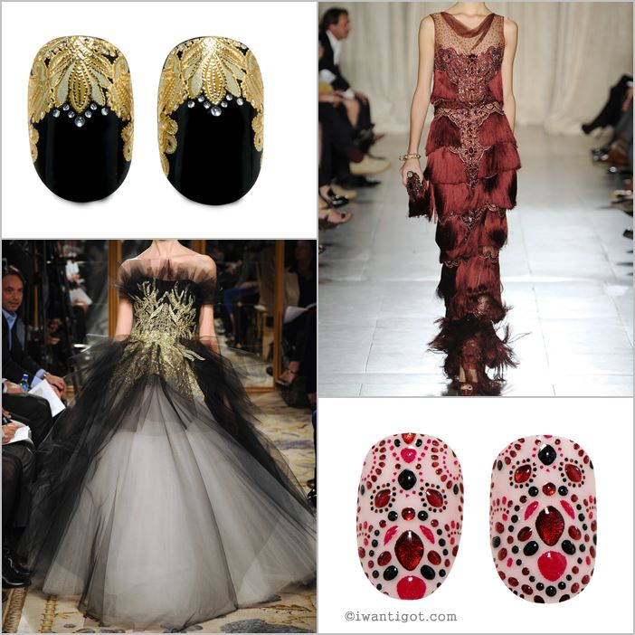 Revlon by Marchesa Nail Art 3D Jewel Appliqués -Crown Jewels, EveningGarnet