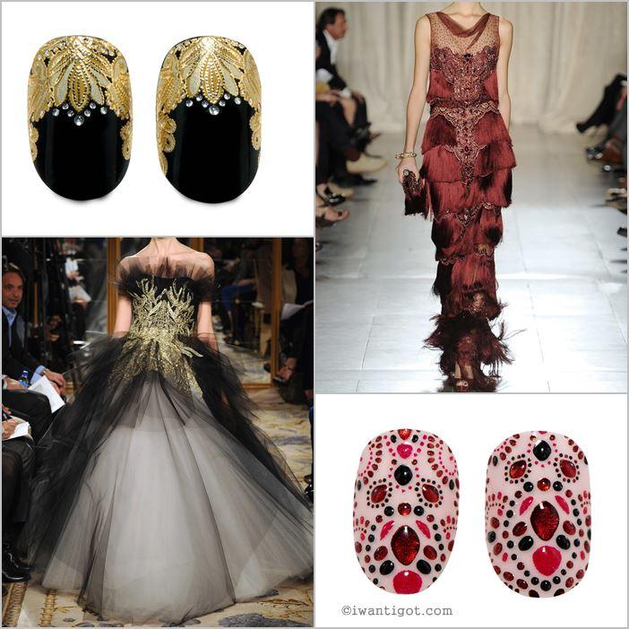 Revlon by Marchesa Nail Art 3D Jewel Appliqués -Crown Jewels, EveningGarnet