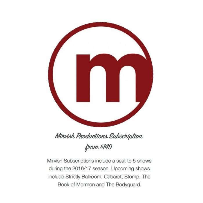 I want - I got 2016 Holiday Gift Guide - Mirvish Subscription