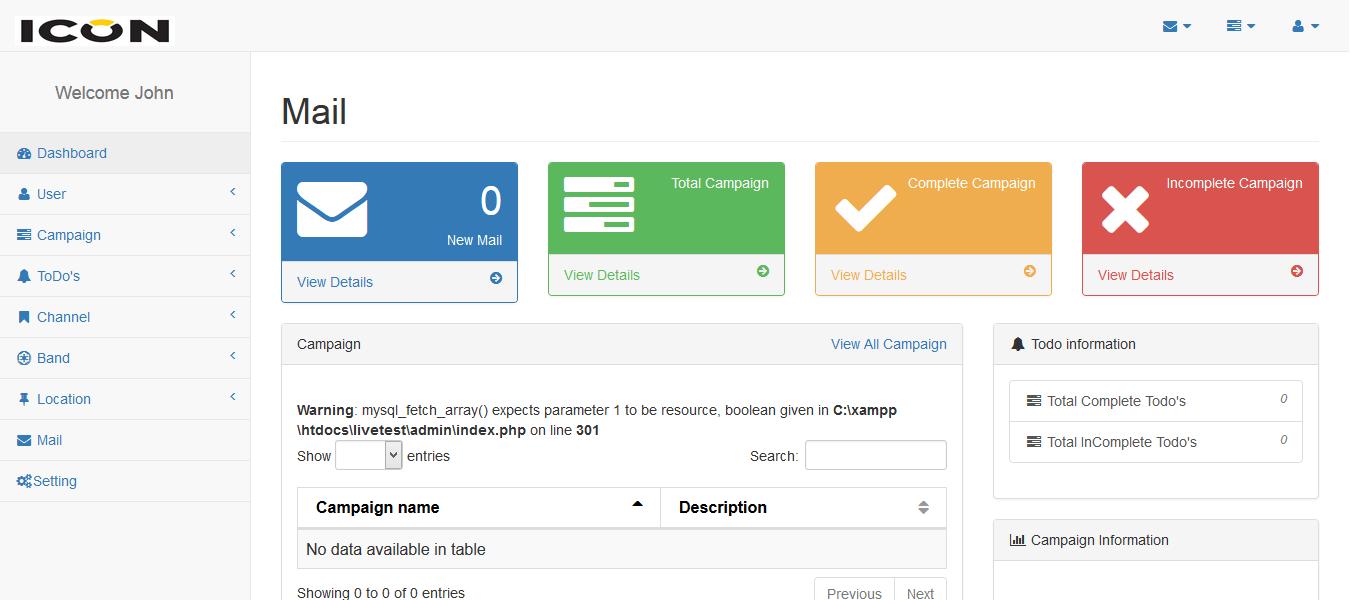Web-based Task Management System PHP and MySQL Source Code