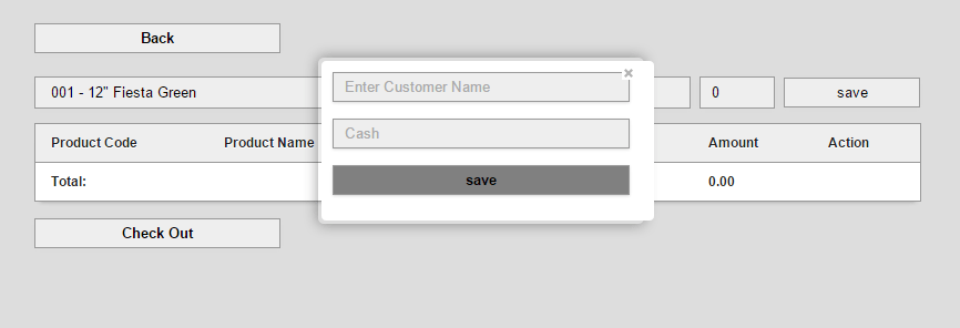 Simple Point of Sale System Using PHP MySql with PDO Query Source Code