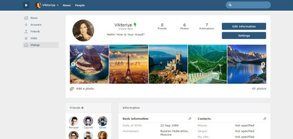 Bootstrap Social Networking Site Source Code