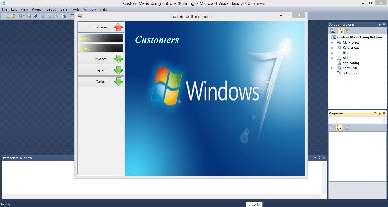 Simple Sidebar Navigation VB.NET Source Code