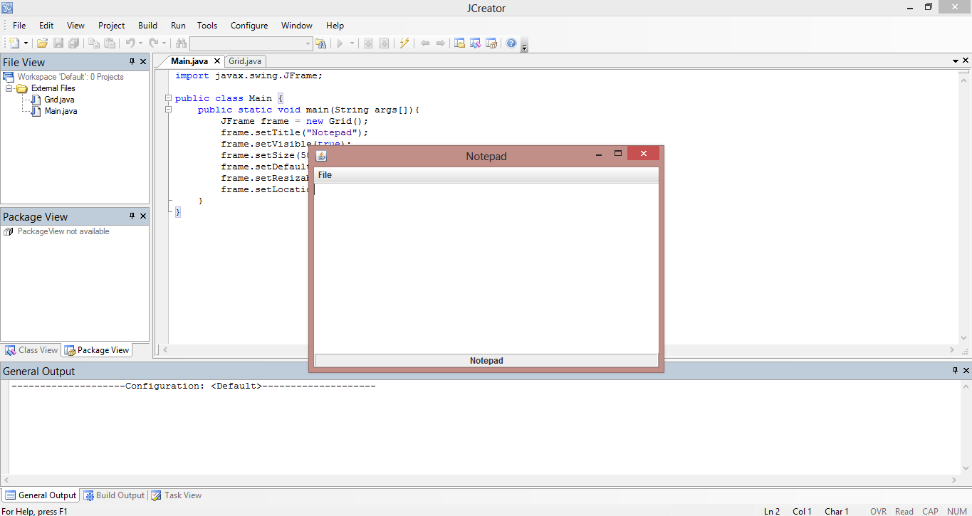 Notepad Application Java Source Code