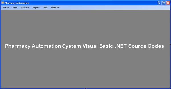 Pharmacy Automation System Visual Basic .NET Source Codes